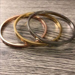 Coach tri color bangle bracelets